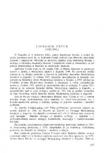 Ljubomir Čečuk (1920.-2002.) : [in memoriam] / Ivan Prpić