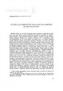 Utjecaj cementne prašine na gornje dišne putove / B. Gušić