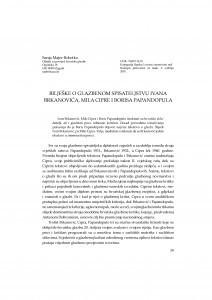 Bilješke o glazbenom spisateljstvu Ivana Brkanovića, Mila Cipre i Borisa Papandopula / Sanja Majer-Bobetko