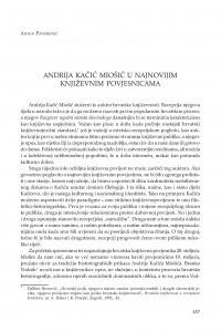 Andrija Kačić Miošić u najnovijim književnim povjesnicama / Antun Pavešković