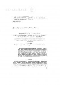 Distribucija aktivnosti dehidrogenaza u toku diferencijacije predželudaca fetusa goveda / N. Kralj-Klobučar, B. Rode, T. Varićak