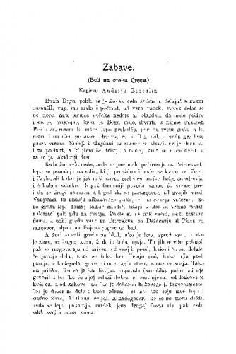 Zabave : (Beli na otoku Cresu.) / A. Bartulin
