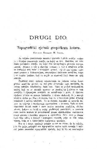 Topografički rječnik gospićkoga kotara / R. M. Grujić