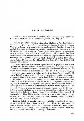 Josip Pečarić