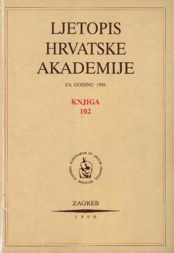 1998. Knj. 102 / urednik Andrija Kaštelan
