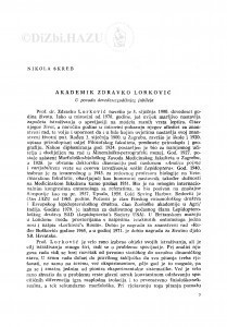 Akademik Zdravko Lorković : u povodu devedesetgodišnjeg jubileja / N. Škreb