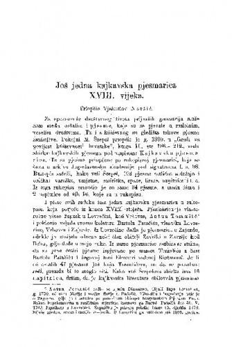 Još jedna kajkavska pjesmarica XVIII. vijeka / Vjekoslav Noršić