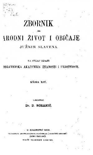 Knj. 14. (1909) / urednik D. Boranić