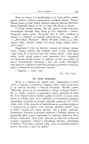 Dr. Artur Schneider / M. Kl. Crnčić