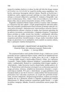 Ivan Kožarić: Umjetnost je rijetka ptica (Galerija Otok, Art radionica Lazareti, Dubrovnik, 1. ožujka - 1. travnja 2009.) : [likovna kronika] / Ivica Župan