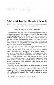 Fosilni sisari Hrvatske, Slavonije i Dalmacije / D. Gorjanović-Kramberger