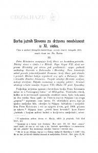 Borba južnih Slovena za državnu neodvisnost u XI. vieku / F. Rački