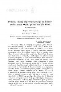 Prirodni slučaj superregeneracije na heliceri pauka kosca Opilio parietinus (de Geer) / J. Hadži
