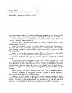 Tomislav Krizman 1882-1955. / Marija Grbić