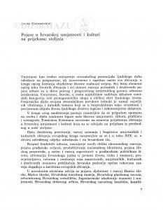 Pojave u hrvatskoj umjetnosti i kulturi na prijelomu stoljeća / Andre Mohorovičić