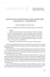 Adjuvantna kemoterapija raka dojke 2008: dostignuća i perspektive / Eduard Vrdoljak, Zvonimir Curić