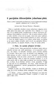 O parcijalnim diferencijalnim jednačbama plohâ / E. Doležal