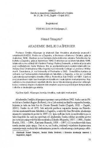 Akademik Smiljko Ašperger / Nenad Trinajstić