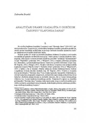 Analitičari drame i kazališta u osječkom časopisu