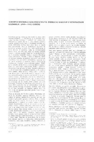 Agrarna reforma i kolonizacija na području Baranje u međuratnom razdoblju : (1919-1941) godine / Zdenka Šimončić-Bobetko