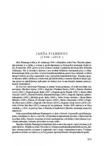 Jakša Fiamengo (1946.-2018.) / Tonko Maroević
