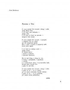 Pjesma o Titu / Jure Kaštelan