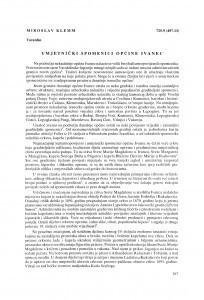 Umjetnički spomenici općine Ivanec / Miroslav Klemm