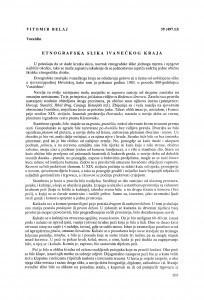 Etnografska slika ivanečkog kraja / Vitomir Belaj