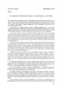 O nekim posebnostima ivanečkog govora / Franjo Hrg