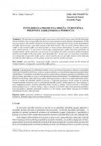 Integrirana prometna mreža: turistička prednost jadranskoga područja / Darko Vlahović