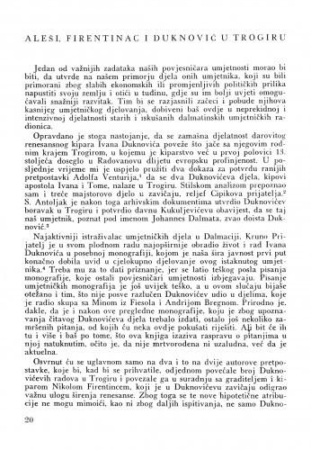 Aleši, Firentinac i Duknović u Trogiru / Cvito Fisković