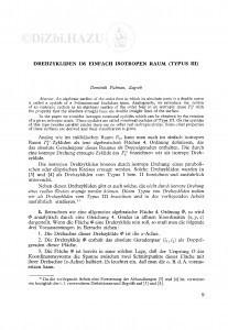 Drehzykliden im einfach isotropen Raum (Typus III) / D. Palman