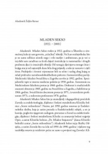 Mladen Sekso (1922.-2003.) / Željko Reiner