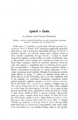 Apokrif o Enohu / Stojan Novaković