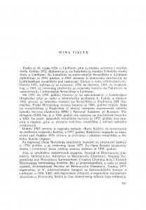 Miha Tišler : [biografije novih članova Akademije]