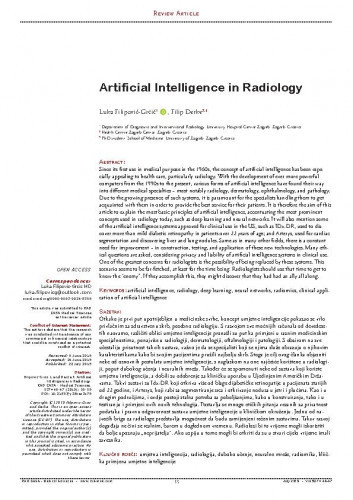 Artificial intelligence in radiology / Luka Filipović-Grčić, Filip Đerke