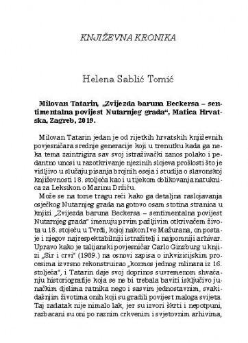 Književna kronika / Helena Sablić Tomić