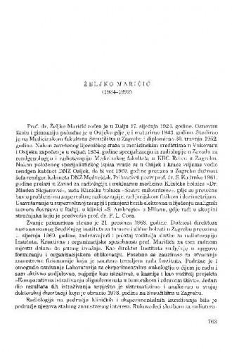 Željko Maričić (1924-1992) / Šime Spaventi