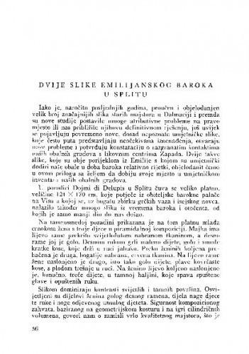 Dvije slike emilijanskog baroka u Splitu / Kruno Prijatelj