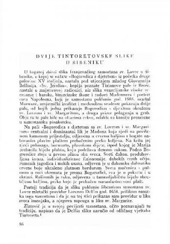 Dvije Tintoretovske slike u Šibeniku / Kruno Prijatelj