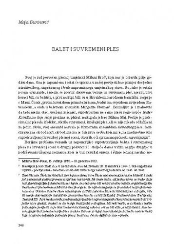Balet i suvremeni ples / Maja Đurinović