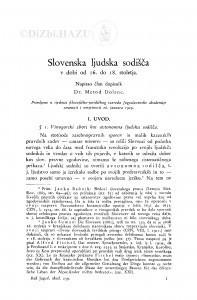 Slovenska ljudska sodišča v dobi od 16. do 18. stoletja / M. Dolenc