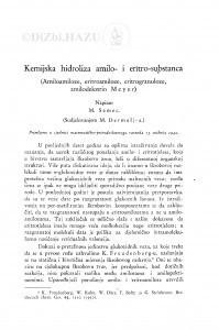 Kemijska hidroliza amilo- i eritro-substanca (Amiloamiloze, eritroamiloze, eritrogranuloze, amilodekstrin Meyer) / Maks Samec