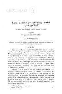 Kako je došlo do slavonskog urbara 1756. godine? Na osnovi arhivalne građe iz arhiva županije virovitičke / J. Bösendorfer