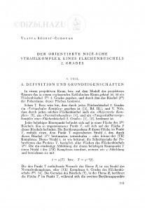 Der orientierte Niče-sche Strahlkomplex eines Flächenbüschels 2. grades / V. Ščurić-Čudovan