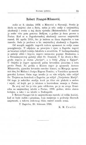 Robert Frangeš-Mihanović / M. Kl. Crnčić