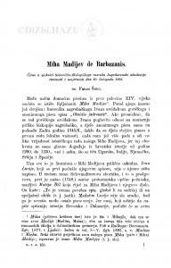 Miha Madijev de Barbazanis / F. Šišić