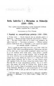 Borba Ludovika I. s Mlečanima za Dalmaciju (1348-1358) / D. Gruber