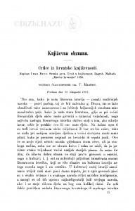 Crtice iz hrvatske književnosti : napisao Ivan Broz. Sveska 1. Uvod u književnost. Zagreb, 1886 : [književna obznana] / T. Maretić