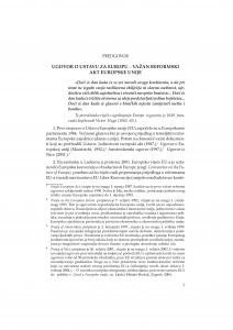 Ugovor o Ustavu za Europu - važan reformski akt Europske unije : predgovor / Davorin Rudolf